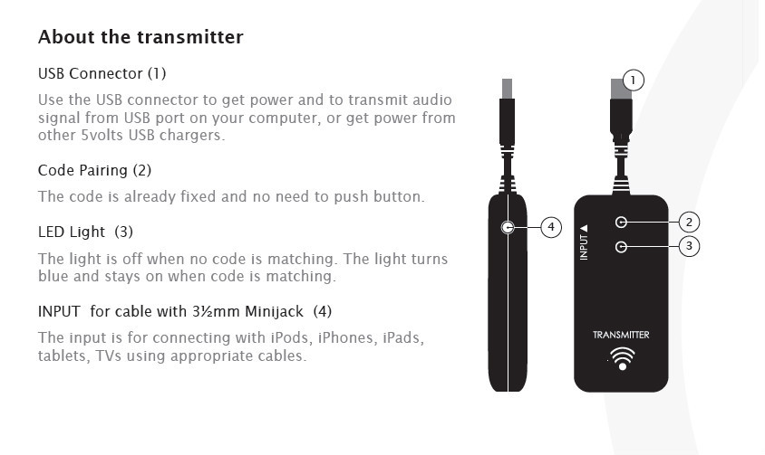 Hot Sales Portable Wireless Audio Transmitter And Receiver With Wireless Audio Link