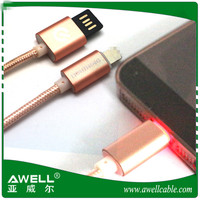 Super Prices In China 1m/2m/3m Nylon Braided Usb Micro Cable With Led Light for Android, Samsung, HTC, Nokia, Nikon