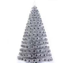 white wire lighted christmas trees