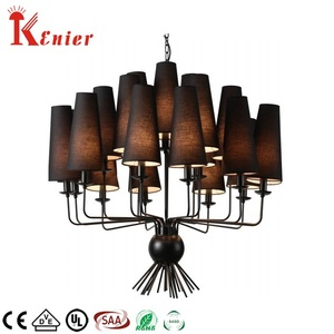 Manufacturers Vintage metal Large Black Iron Pendant Light Spider Chandelier