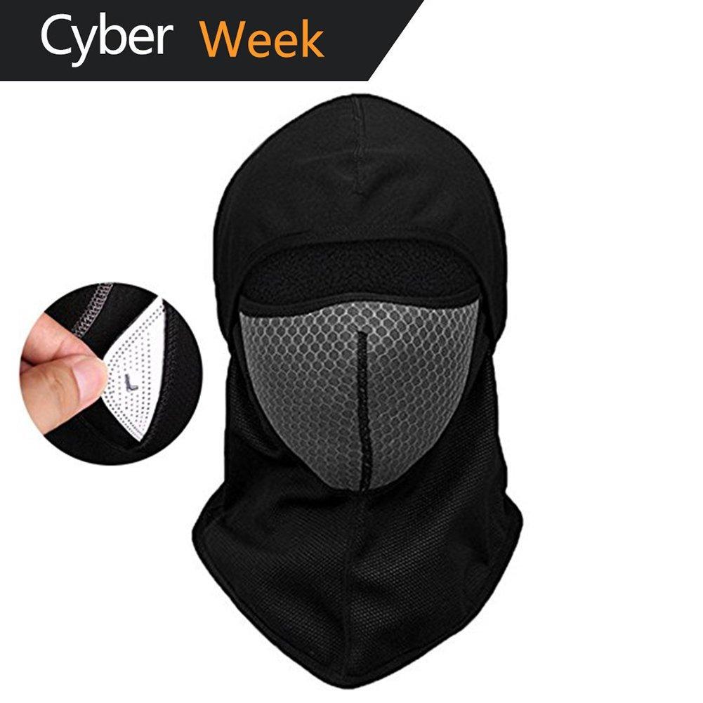 b9e94b15bdb Get Quotations · Windproof Ski Face Mask-Balaclava Fleece Hood