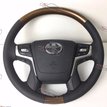 Land cruiser conversion steering wheel, 2018 LC200 steering wheel use on 2008-2015 land cruiser.Wooden steering wheel