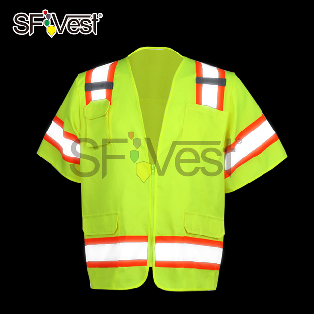 Short Sleeve Safety Equipment Construction Road Work Safety Vest