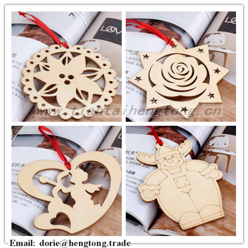 Wholesale wood christmas hanging for home decoration
