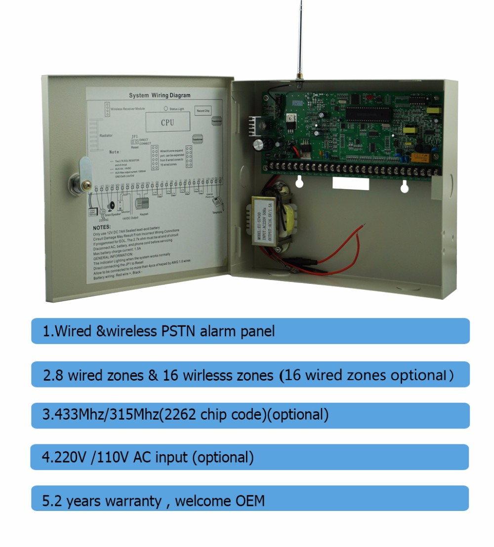 Eightway Wireless Burglar Alarm System Circuit Diagram Model Basiccircuit Seekiccom Wired And Control Panel Buy