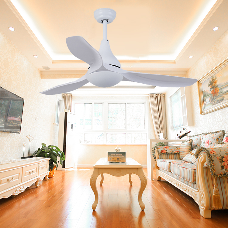 Modern simple style electric power 220v AC/DC motor remote control cooling ceiling fan