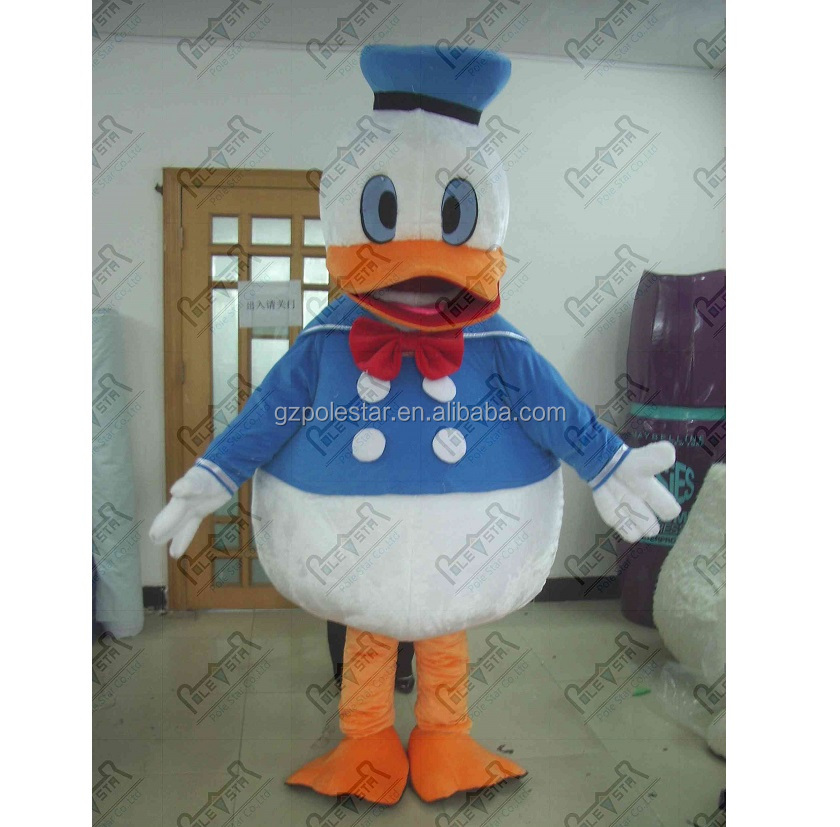 blue coat cartoon donald duck mascot cotsumes