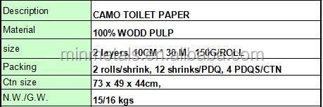 Camo Toilet Paper,Orange/pink/green Toilet Paper,Home Decoration ...