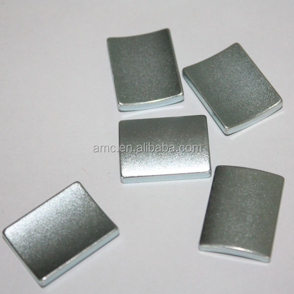 Zinc Zn Coating Arc Segment Sintered Ndfeb Magnets For Servo Motor ...