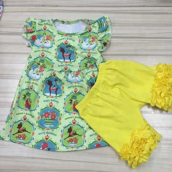 Wholesale fashion Kids Clothes Baby Girls Boutique Clothing 2018Ibear brand outfit