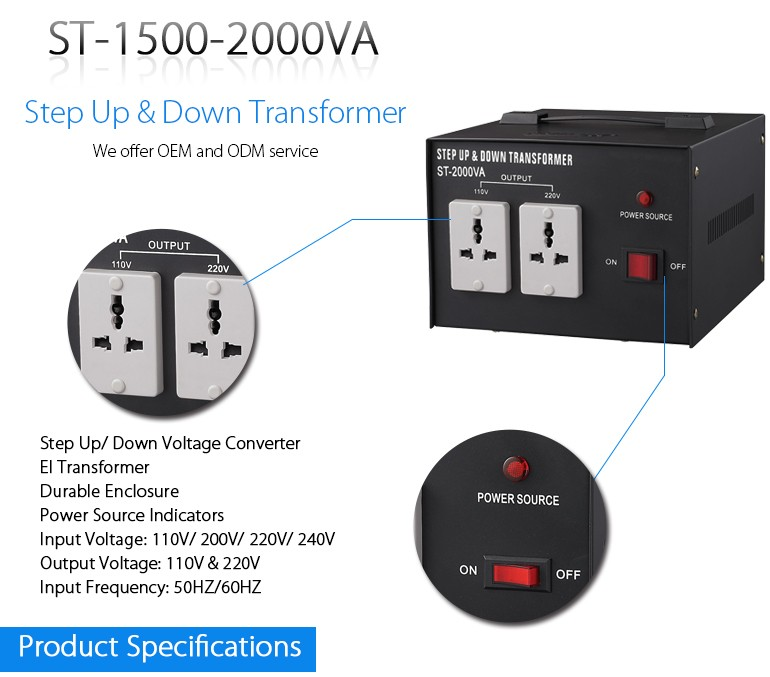 New design 220 volt to 110 volt transformer for low frequency