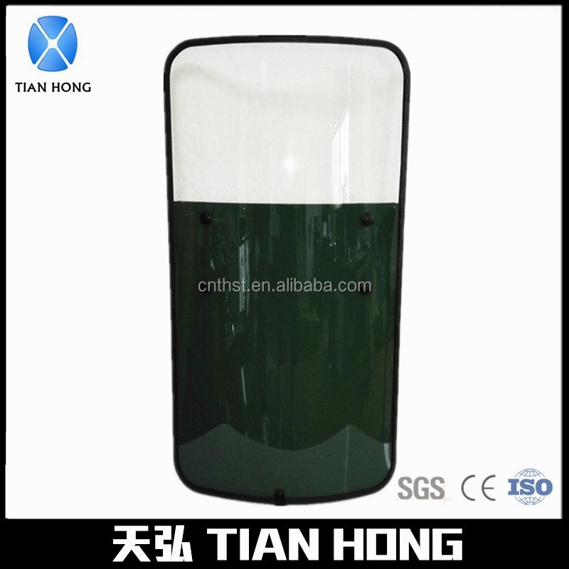 Impact Resistant Covered Edge Anti Riot Shield For Military Army
