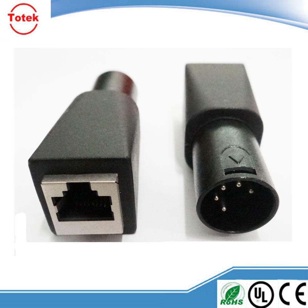 China Supplier Xlr 5p To Rj45 Female Adapter