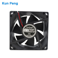 Gelid stille 80mm 8025 <span class=keywords><strong>dc</strong></span> fan 12 v 24 v 48 v intel cpu computer koeler fan <span class=keywords><strong>dc</strong></span> 80mm * 80mm * 25mm koelventilator