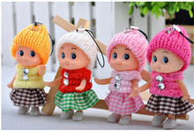1PCS NEW Kids Toys Soft Interactive Baby Dolls Toy Mini Doll For girls and boys Free Shipping