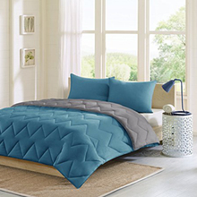 Made in <span class=keywords><strong>China</strong></span> Polyester Duvet/Unten Alternative Weiß/blau Tröster