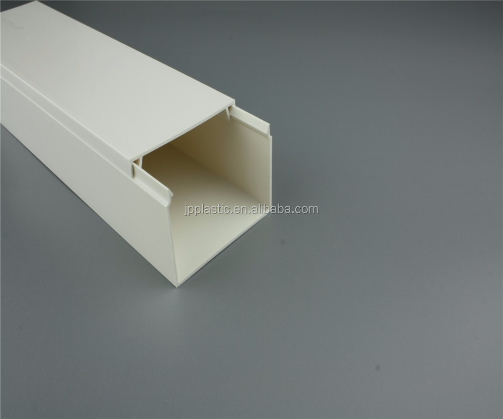Plastic Electrical Wire Gutter PVC Trunking Aluminium