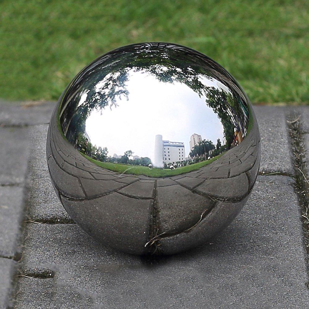 DaJun 201 Stainless Steel Titanium Gold Hollow Ball,Seamless Mirror Ball Sphere Gazing Balls Home Garden Ornament Decoration
