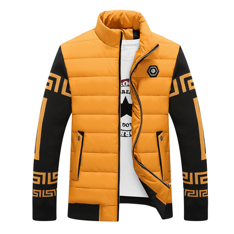 Young male cotton coat thick cotton padded jacket slim fashion winter male coat