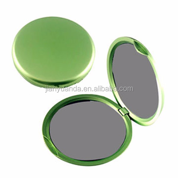 Dual sided plastic round cosmetic mirror compact