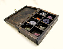 Custom stained dark color wooden display box,antique wood tea boxes
