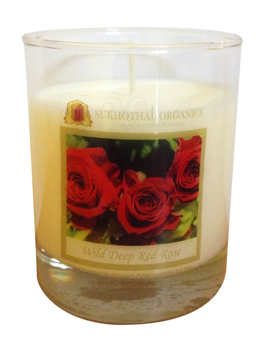 Wild Deep Red Rose Scented Candle - 10 Oz (290 grams)