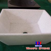 quartz stone crystal white bathroom sink made in china