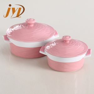 Food grade colorful stoneware casserole dish with lid