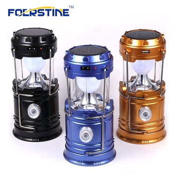 Factory Supply Cheap 5W 6 LED Night light Portable Camping Rechargeable Solar Camping Lantern for Hiking, Camping