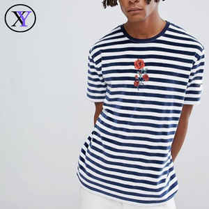 OEM Service Offer Cheap Mens Combed Cotton tshirt stripes