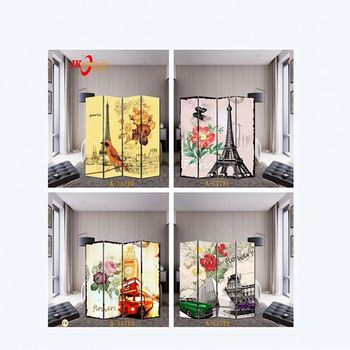 Europe city hotel room divider screens french style retractable room partition