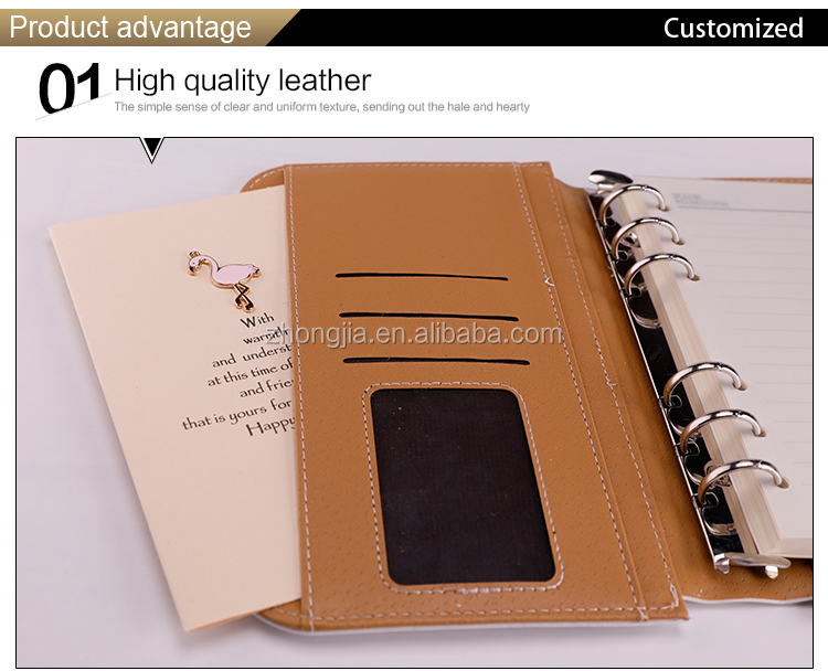 Girls Cute Designs B6 A7 Size Cartoon Notebook Leather Cover Loose Leaf Diary for School Girls