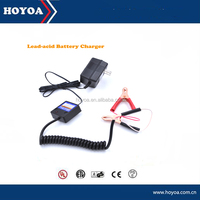 UL plug and PSE certification Hot sale 15V 0.5A 0.4A Lead acid car battery charger