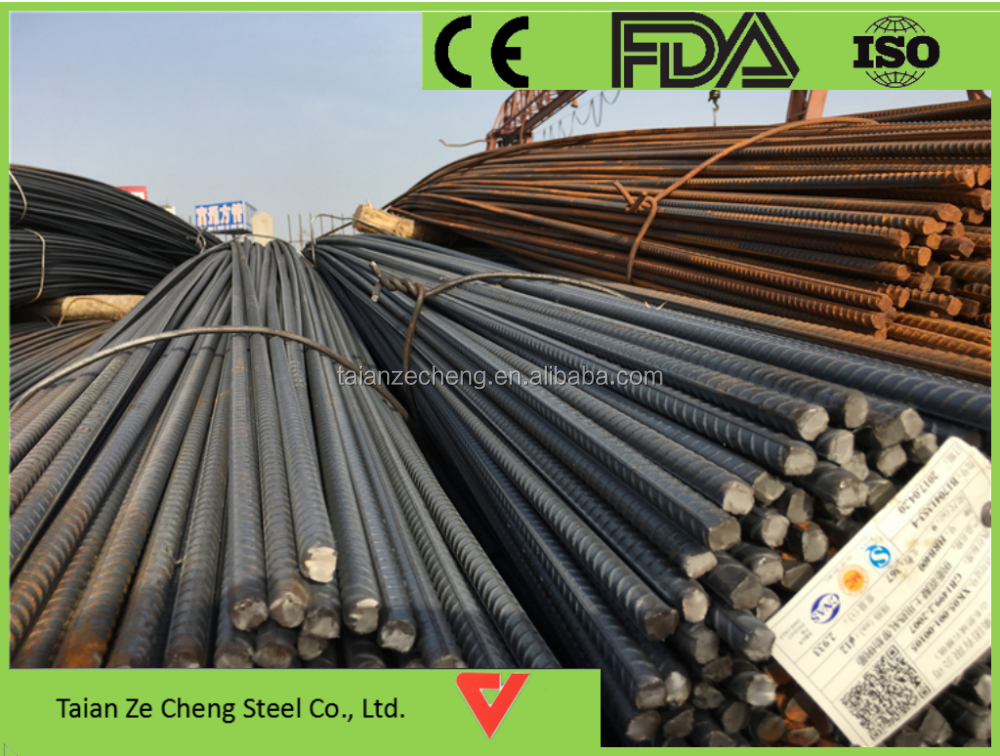 Hot Rolled Ribbed Bars Mild Iron Rods Deformed Steel Bar in Coil