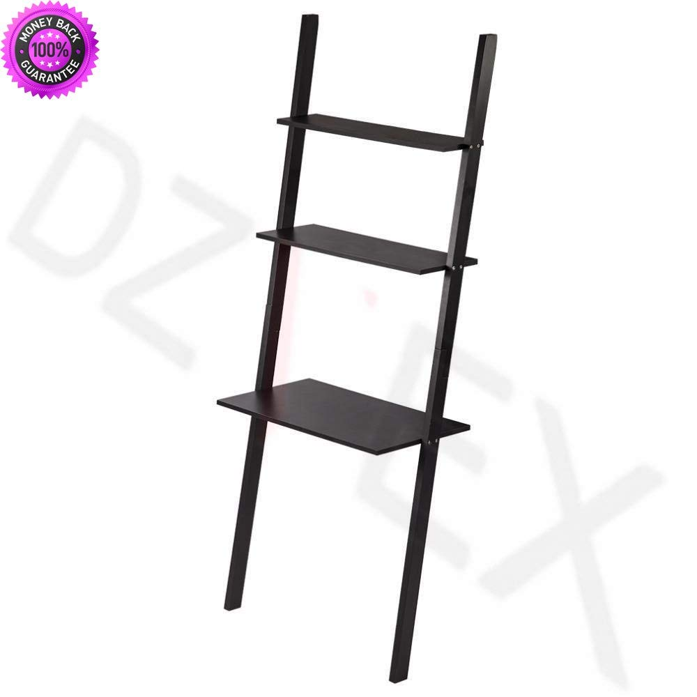 DzVeX_New Modern 3-Tiers Ladder Bookshelf Bookcase Leaning Ladder Wall Shelf Storage And home office furniture sets commercial office furniture home office desk home office furniture collections mod