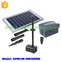 Running cost free maximum 2m head and 760L/H flow rate solar powered fountain pump kit for illuminated fountain (SPBL10-401209D)