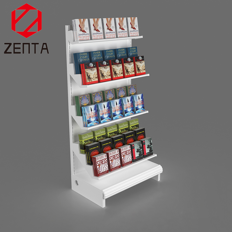 Custom MDF Supermarket 4 Tier Floor Display <strong>Retail</strong> For Food