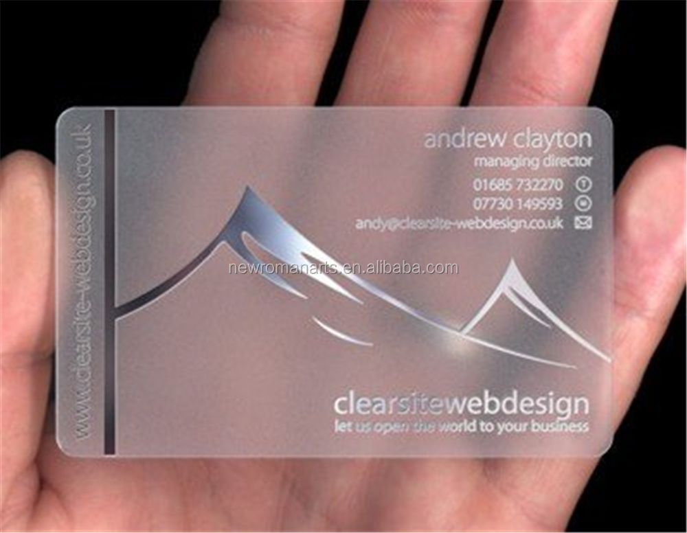 Clear Plastic Card Printing, Clear Plastic Card Printing Suppliers ...
