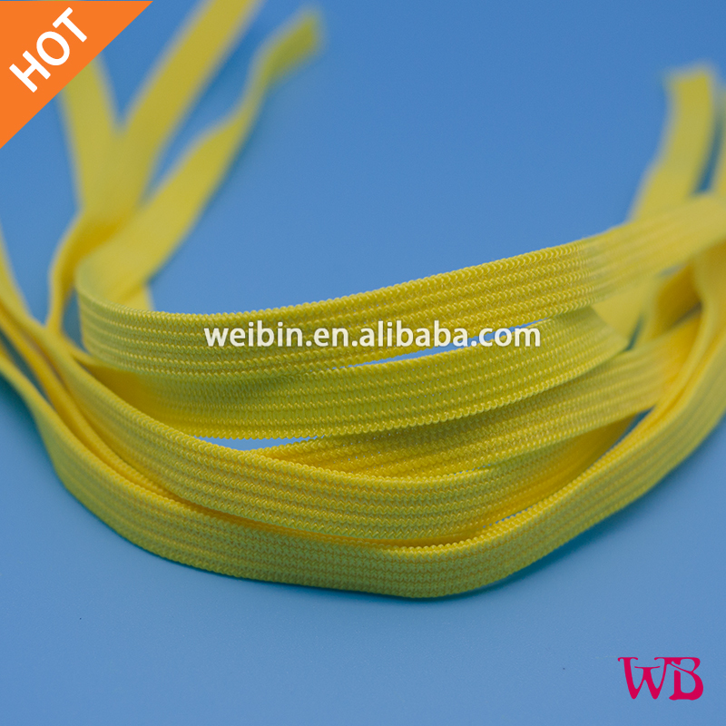 Face Masks Elastic Straps, 0.7cm, Yellow