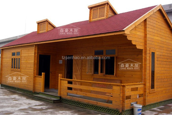 Prefab Holiday Wooden House/log Cabin Manufacture Pine Wood Logs With Low  Price