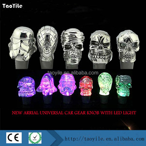 High quality LED Light Auto Gear Shift Transparent Knob Touch Activated Cool Stick Knobs Car Styling Fashion Shift Knobs
