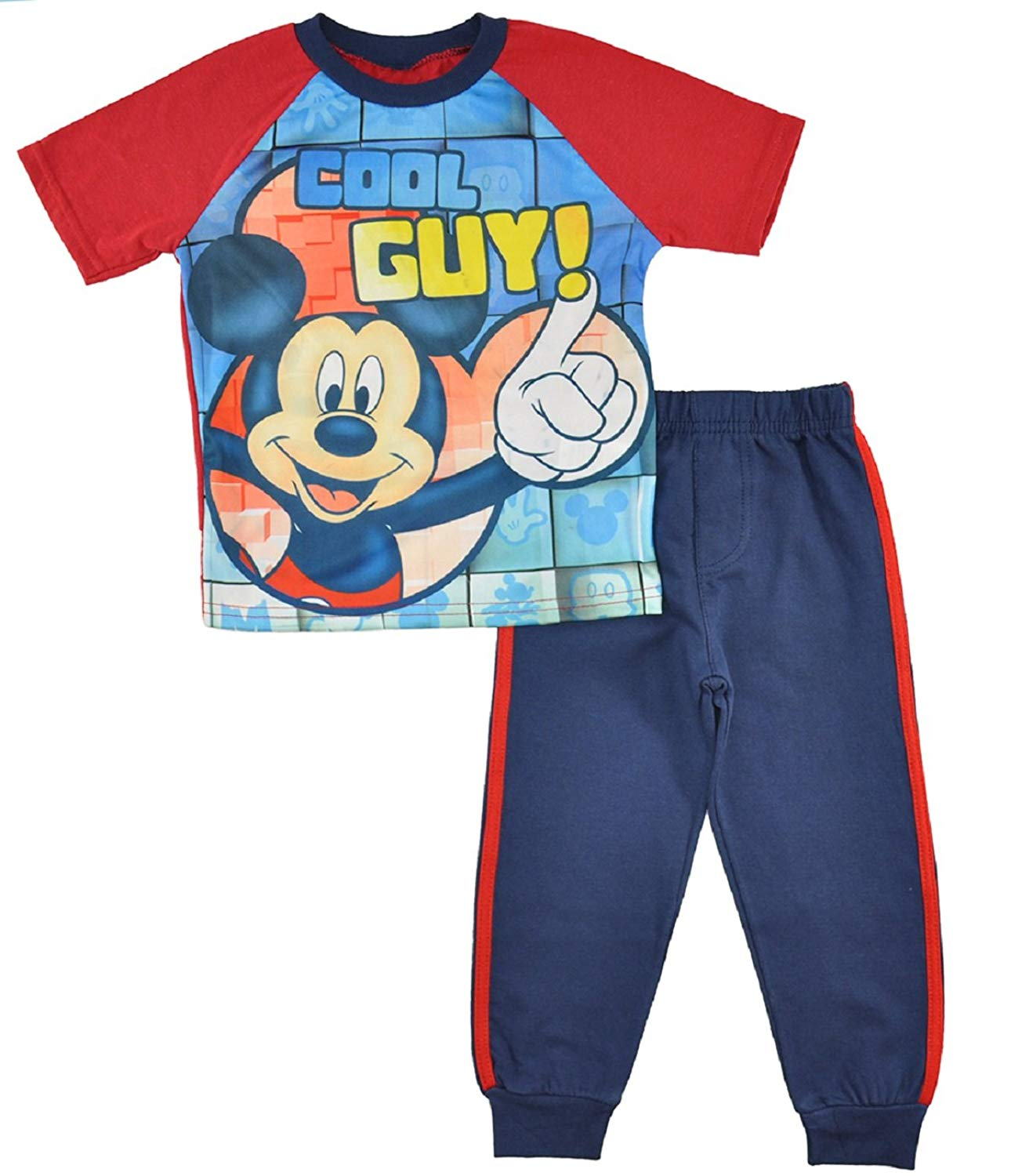 Mickey Mouse Little Boys Toddler Tee and Jogger Pants Set