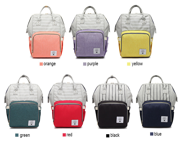 Wholesale Nappy Bags Multi-Function Travel Diaper Backpack Bag