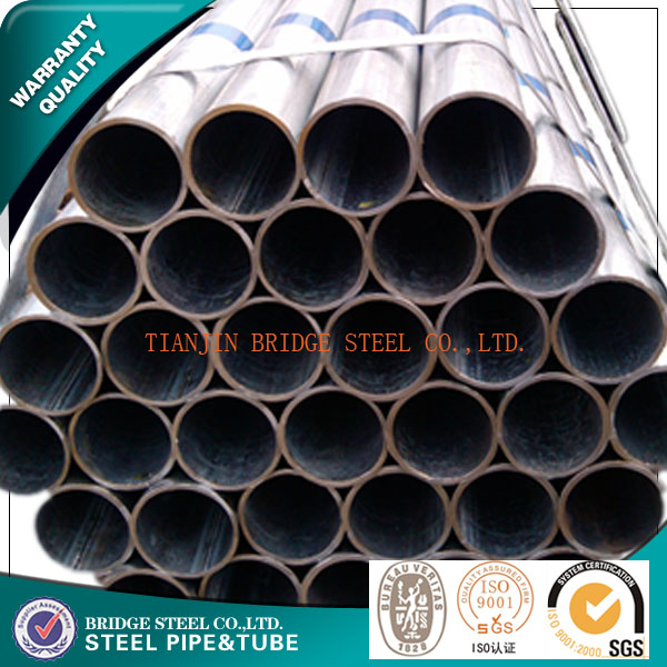 BS1387 hot dip galvanized round carbon steel tubes or tubing