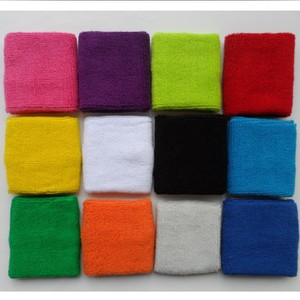 Pure cotton embroid terry kids sports wristbands