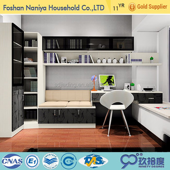 new design hotel apartment furniture japanese style library bookcase with desk