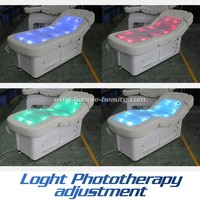 Luxury electric dry thermal water massage table