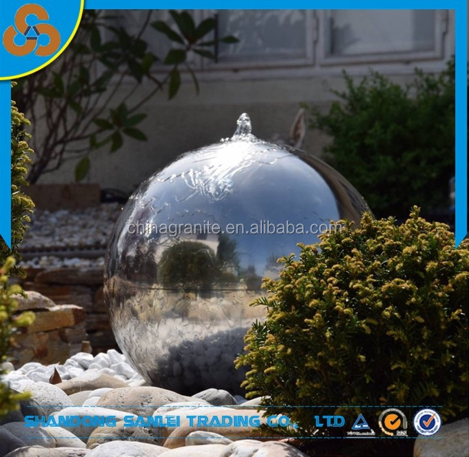 hot selling garden decoration fountain 2mm stainless steel hollow ball