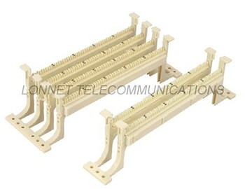 50 pair 110 wiring block with legs compatible cabling system