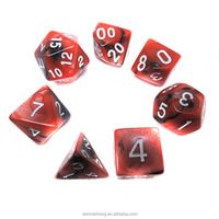custom polyhedral 4 6 8 10 12 20 sided RPG dice set